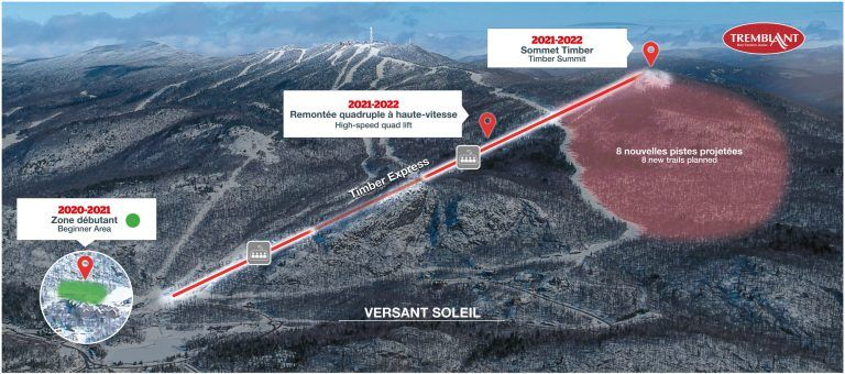 Tremblant announces an expansion to a new summit called Timber