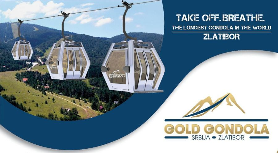 Zlatibor Gold Gondola / Serbia: Construction of the world longest gondola