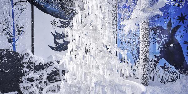 Snow-covered Swarovski Kristallwelten - courtesy of TechnoAlpin