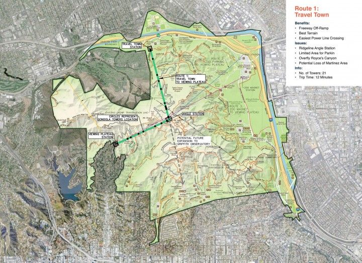 The City of Los Angeles: Feasibility study of an Aerial Transit System for Griffith Park