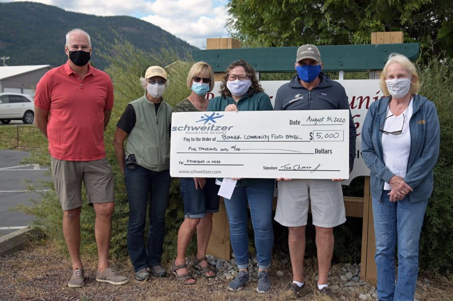 Bonner Community Food Bank receives $5000 donation from Schweitzer