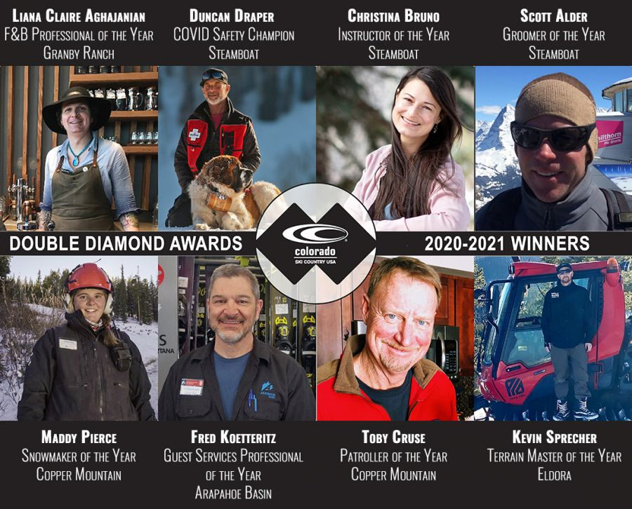 Ski Industry Standouts Honored at Colorado Ski Country Double Diamond Awards