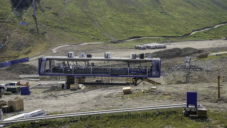 Big Sky: Swift Current 6 chairlift construction